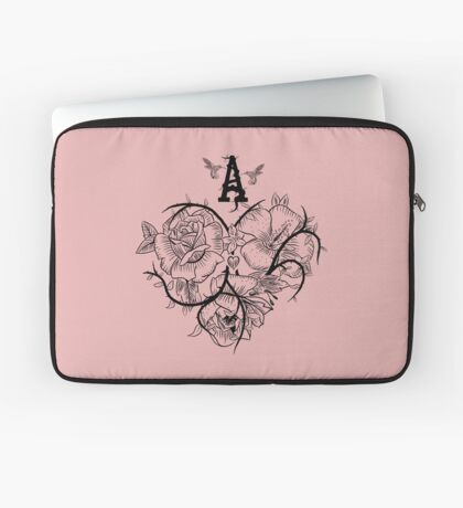 Ace of Hearts Flowers Laptop Sleeve