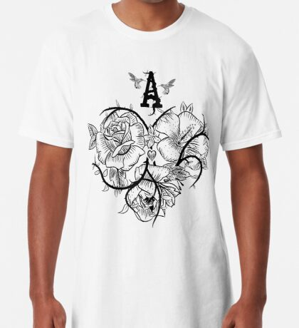 Ace of Hearts Flowers Long T-Shirt