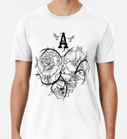 Ace of Hearts Flowers Premium T-Shirt