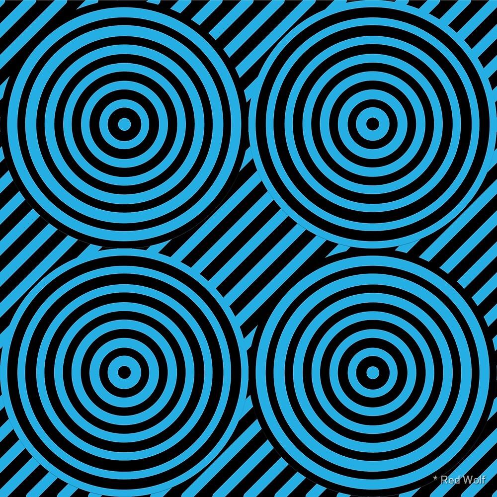 Geometric Pattern: Circle Strobe: Blue/Black by * Red Wolf