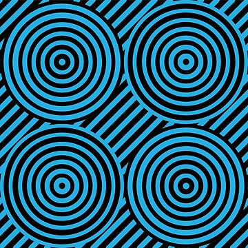 Geometric Pattern: Circle Strobe: Blue/Black by redwolfoz