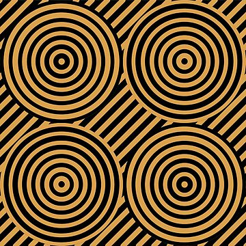Geometric Pattern: Circle Strobe: Black/Gold by redwolfoz