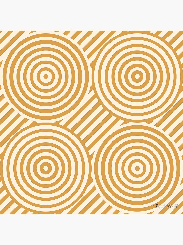 Geometric Pattern: Circle Strobe: Cream/Gold by redwolfoz