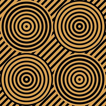 Geometric Pattern: Circle Strobe: Gold/Black by redwolfoz