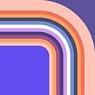 «Retro 60s 70s 80s 90s Rayas de arco iris de mediados de siglo» de bitart
