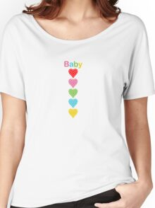 Baby Hearts - colorful Women's Relaxed Fit T-Shirt