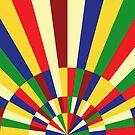 «Mediados de los años 60, 70, Retro Rainbow Sun» de bitart