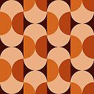 «Retro 60s 70s frijoles cápsulas patrón de mediados de siglo» de bitart