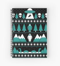 Paranormal Christmas Sweater Spiral Notebook