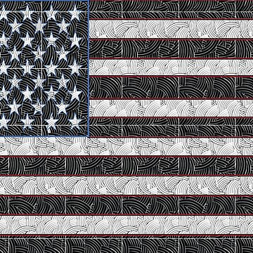 USA American Flag Art Deco Swing by CecelyBloom