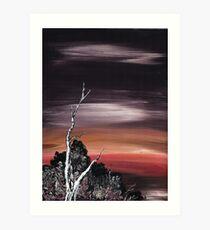 Alone at Sunset Art Print