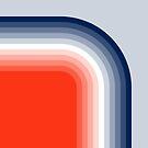 «60s 70s Retro Modern Rainbow Stripes» de bitart