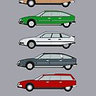 Citroen CX Series 1 Classic Car Collection by RJWautographics