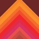 «Retro Hippy 60s 70s Flecha Triángulos Chevron» de bitart
