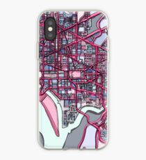 ABSTRACT MAP OF WASHINGTON, DC iPhone Case