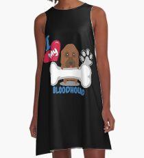 BLOODHOUND - Ich liebe mein BLOODHOUND-Geschenk A-Linien Kleid