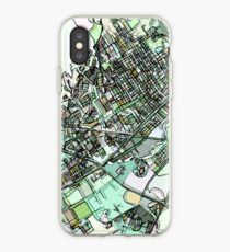 ABSTRACT MAP OF WACO, TX iPhone Case