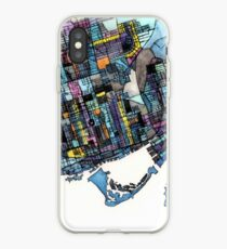 ABSTRACT MAP OF TORONTO, ONTARIO iPhone Case