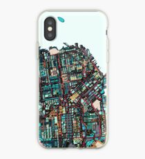 ABSTRACT MAP OF SAN FRANCISCO, CA iPhone Case