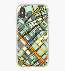 ABSTRACT MAP OF BOSTON SOUTH END iPhone Case
