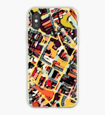 ABSTRACT MAP OF SOMERVILLE MA iPhone Case