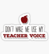 Teacher Voice Sticker