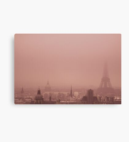 A foggy day Canvas Print