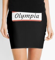Olympia Name Label  Hello My Name Is Olympia Gift For Olympia or for a female you know called Olympia Minirock