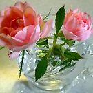 Roses in a Cup by debbiedoda