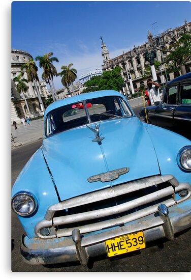 Old Blue Chevy, Havana, Cuba by David Carton