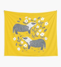 Badgers Wall Tapestry