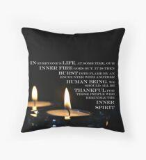 Inner Flame Throw Pillow