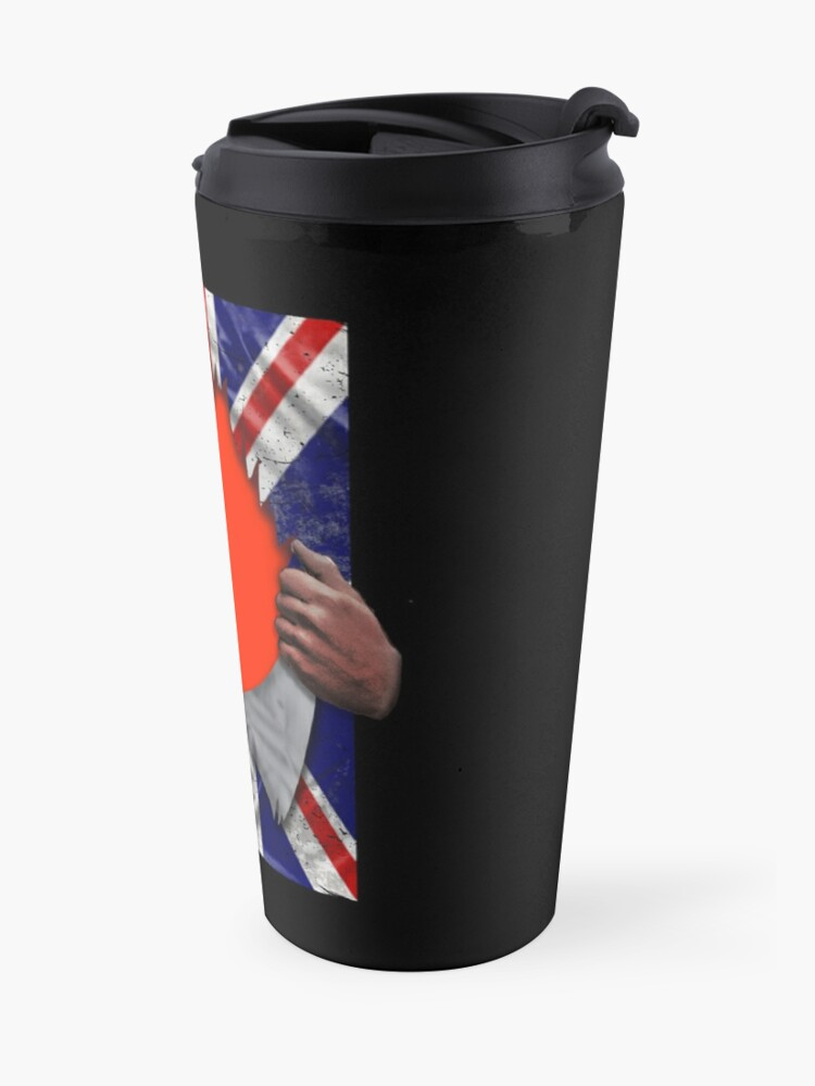 Alternate view of Taiwanese Flag Ripped - Born In United Kingdom Roots From Taiwan Travel Mug