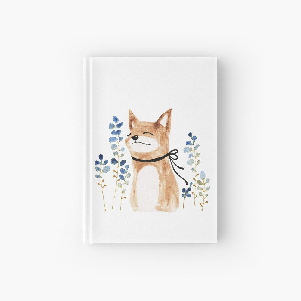 Fox and Flower Hardcover Journal