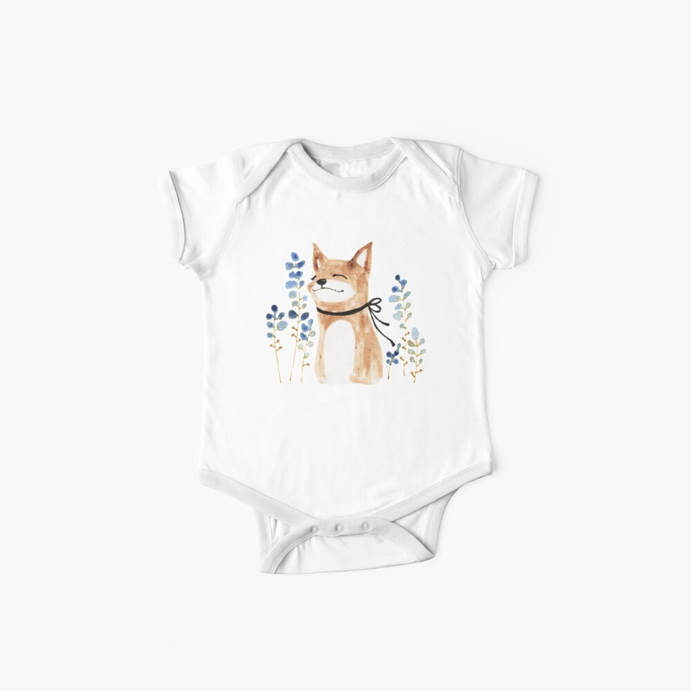 Fox and Flower Baby One-Piece