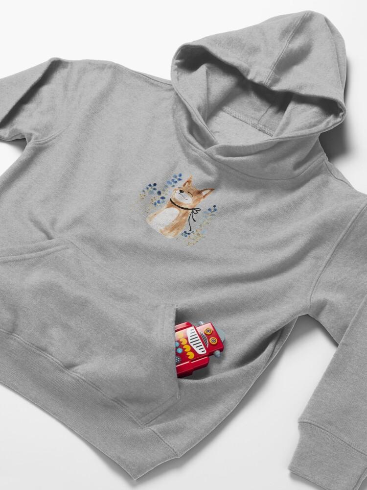 Alternate view of Fox and Flower Kids Pullover Hoodie