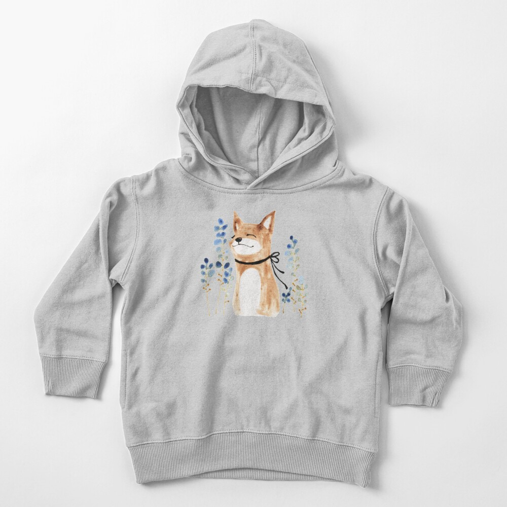 Fox and Flower Toddler Pullover Hoodie