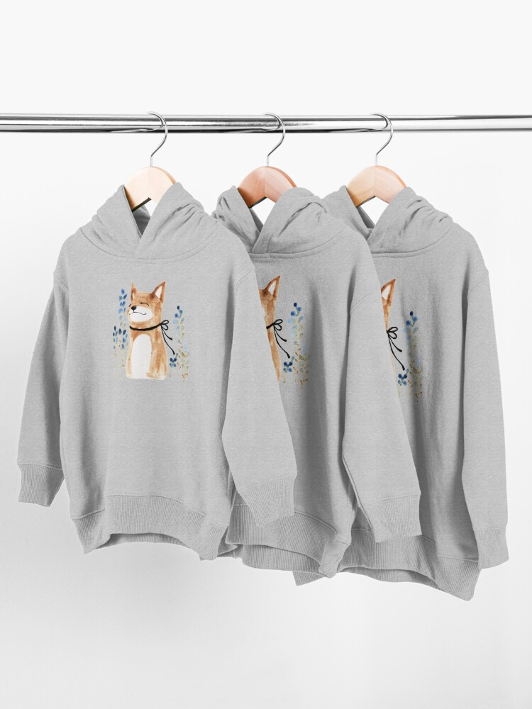Alternate view of Fox and Flower Toddler Pullover Hoodie