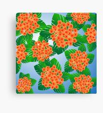 Floral decoration Canvas Print