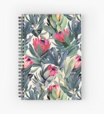 Painted Protea Pattern Spiral Notebook