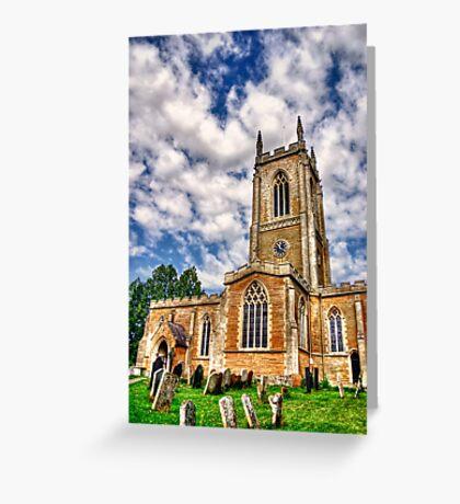 Orlingbury church HDR art  Greeting Card