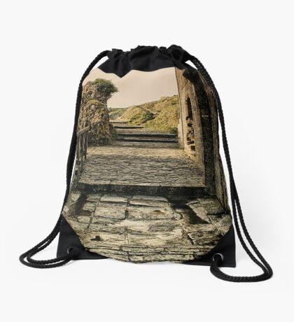 Steps back in Time Drawstring Bag