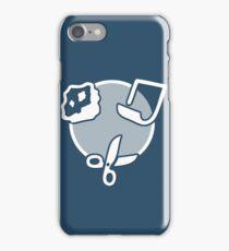 Rock Paper Scissors - white iPhone Case/Skin