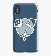 Rock Paper Scissors - white iPhone Case