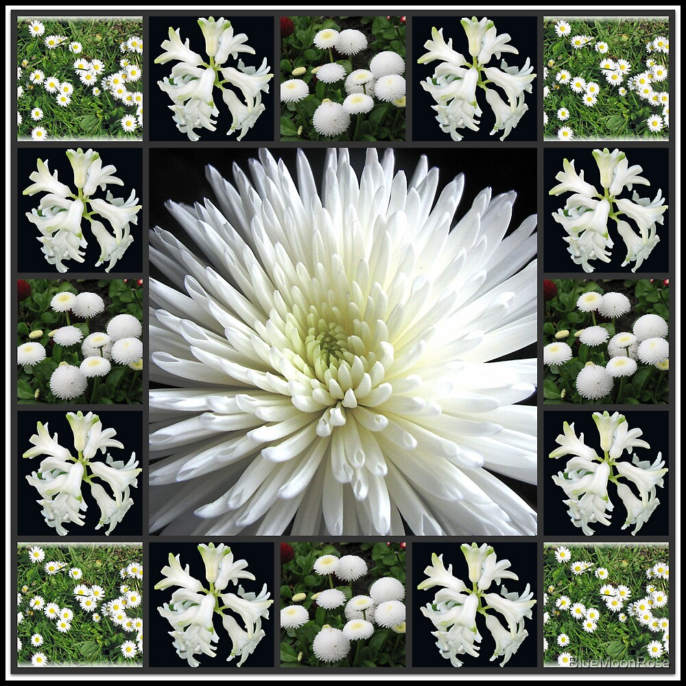 White Flowers Collage featuring Dahlia von BlueMoonRose