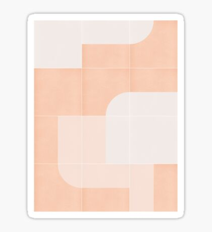 Retro Tiles 04 #redbubble #pattern Glossy Sticker