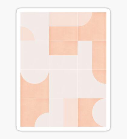 Retro Tiles 05 #redbubble #pattern Glossy Sticker