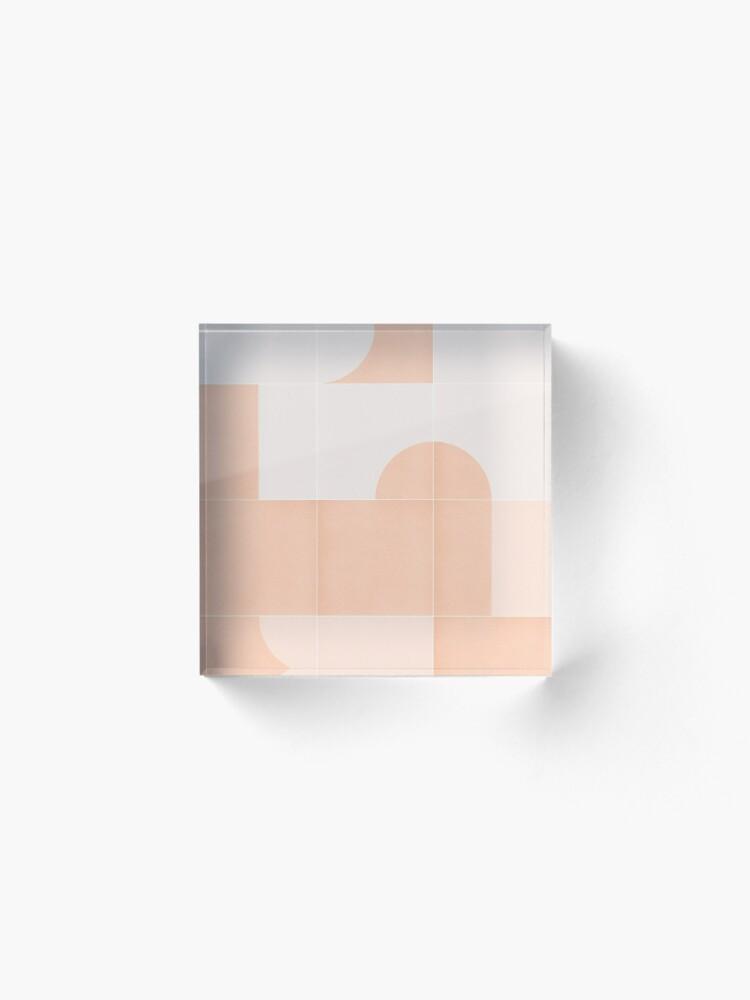 Alternate view of Retro Tiles 06 #redbubble #pattern Acrylic Block