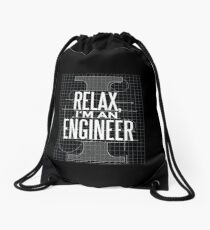 Relax I'm an Engineer Drawstring Bag