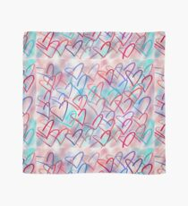 Lovely Hearts Hand Drawn Pastel Scarf